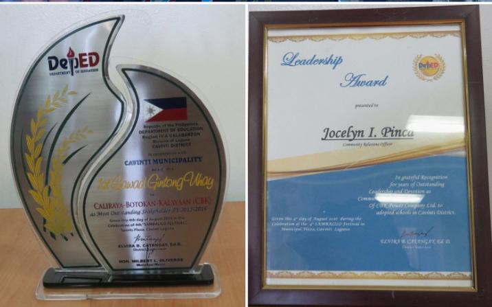 Gawad Gintong Buhay for CBK Power Company Ltd.